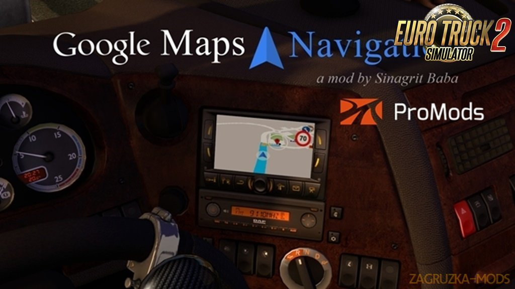Google Maps Navigation for ProMods v1.7 [1.33.x]