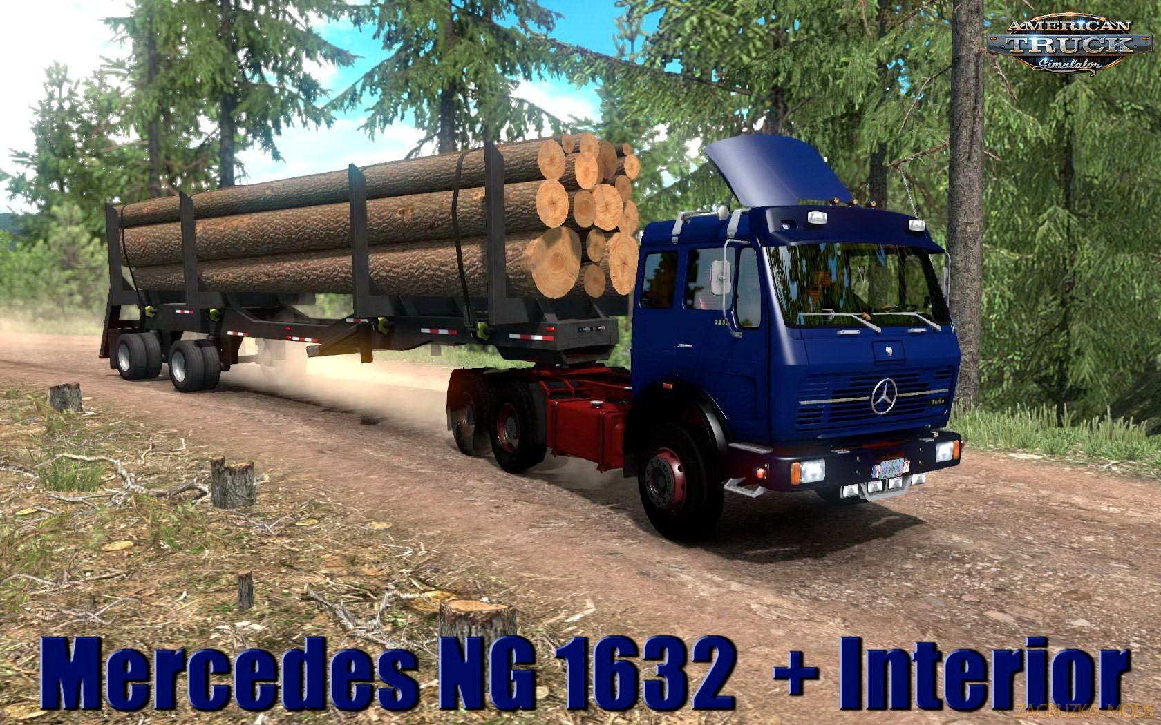Mercedes NG 1632 + Interior v1.0 (1.33.x) for ATS
