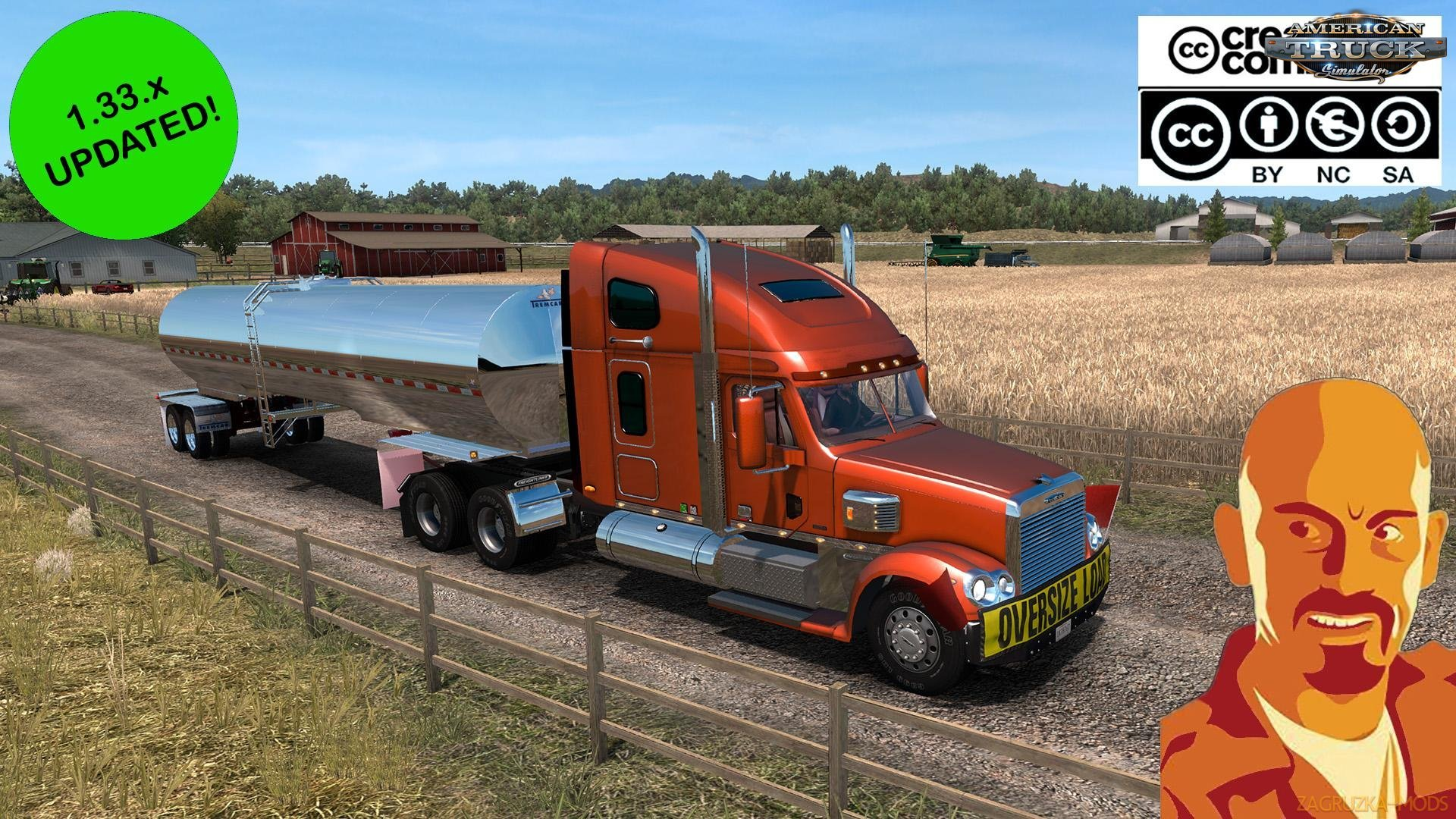 Freightliner Coronado + Interior v1.0 Edit by CyrusTheVirus (1.33.x) for ATS