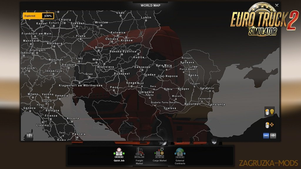 ROMANIA Map v1.8 by MIRFI (1.34.x) for ETS2