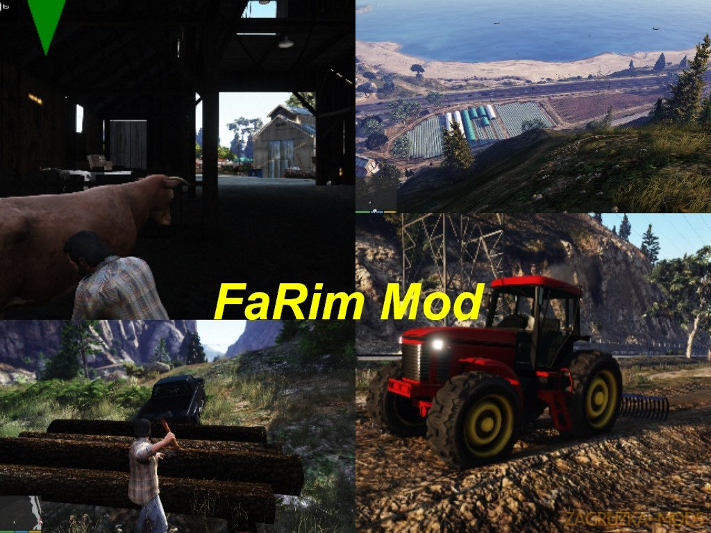 Euro Truck Simulator / Farming Simulator / Rimworld - FaRim Mod v1.0.2 for GTA 5