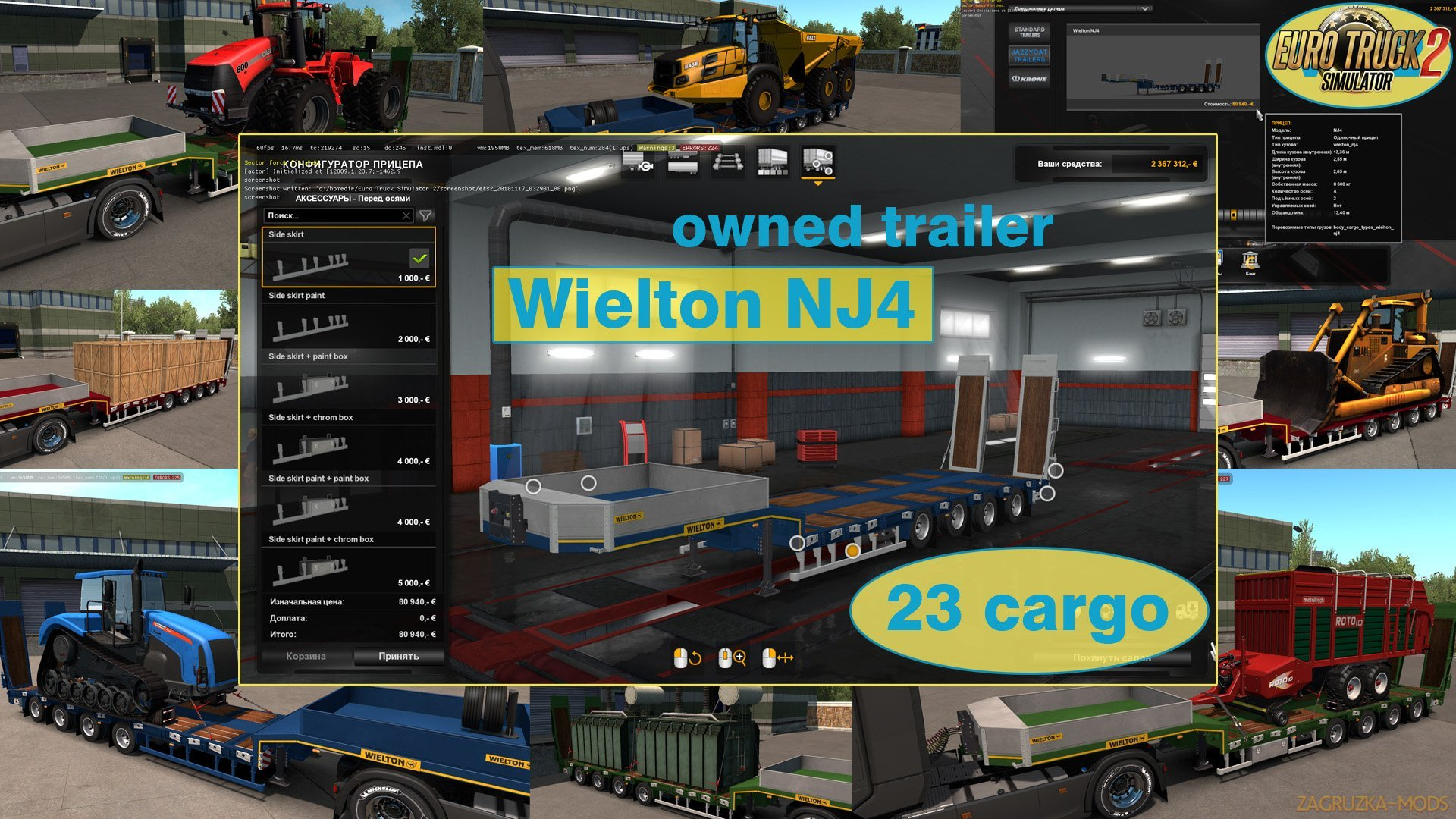 Ownable trailer Wielton NJ4 v1.2 by Jazzycat