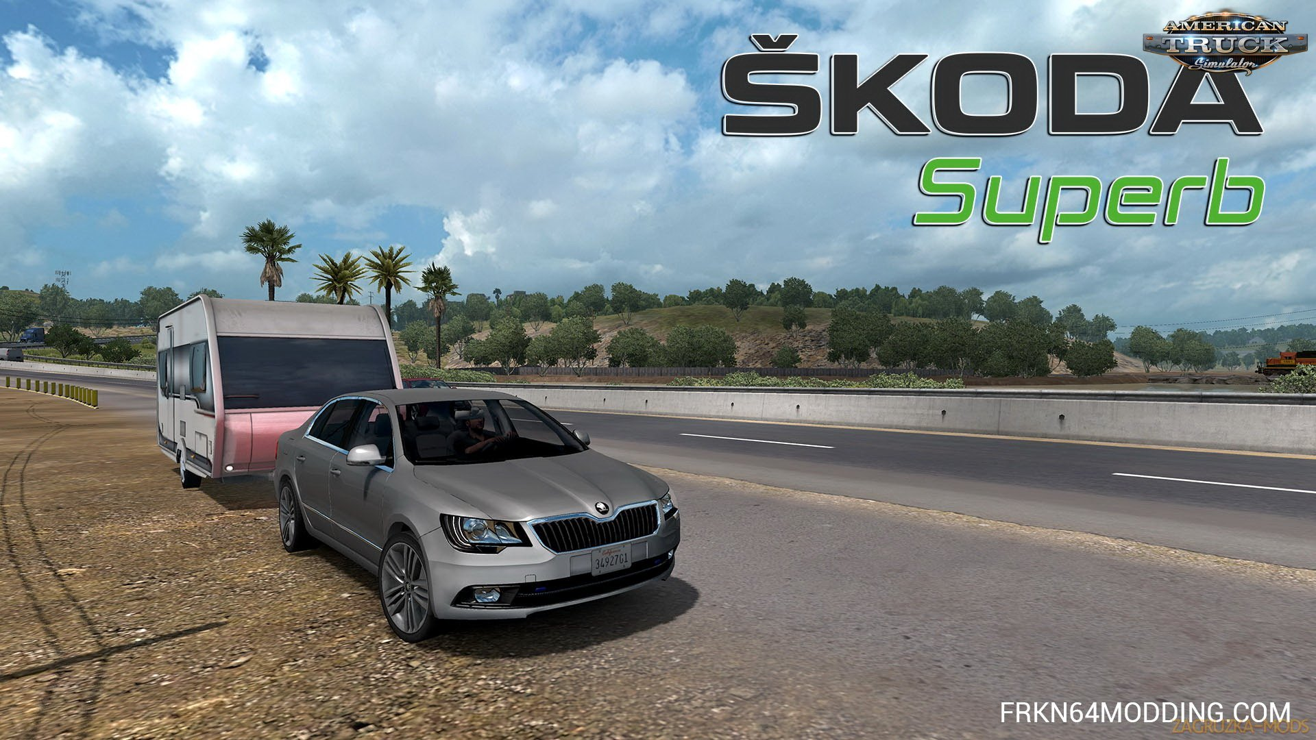 Skoda Superb 2014 + Interior v3.4 by Frkn64 (1.33.x) for ATS