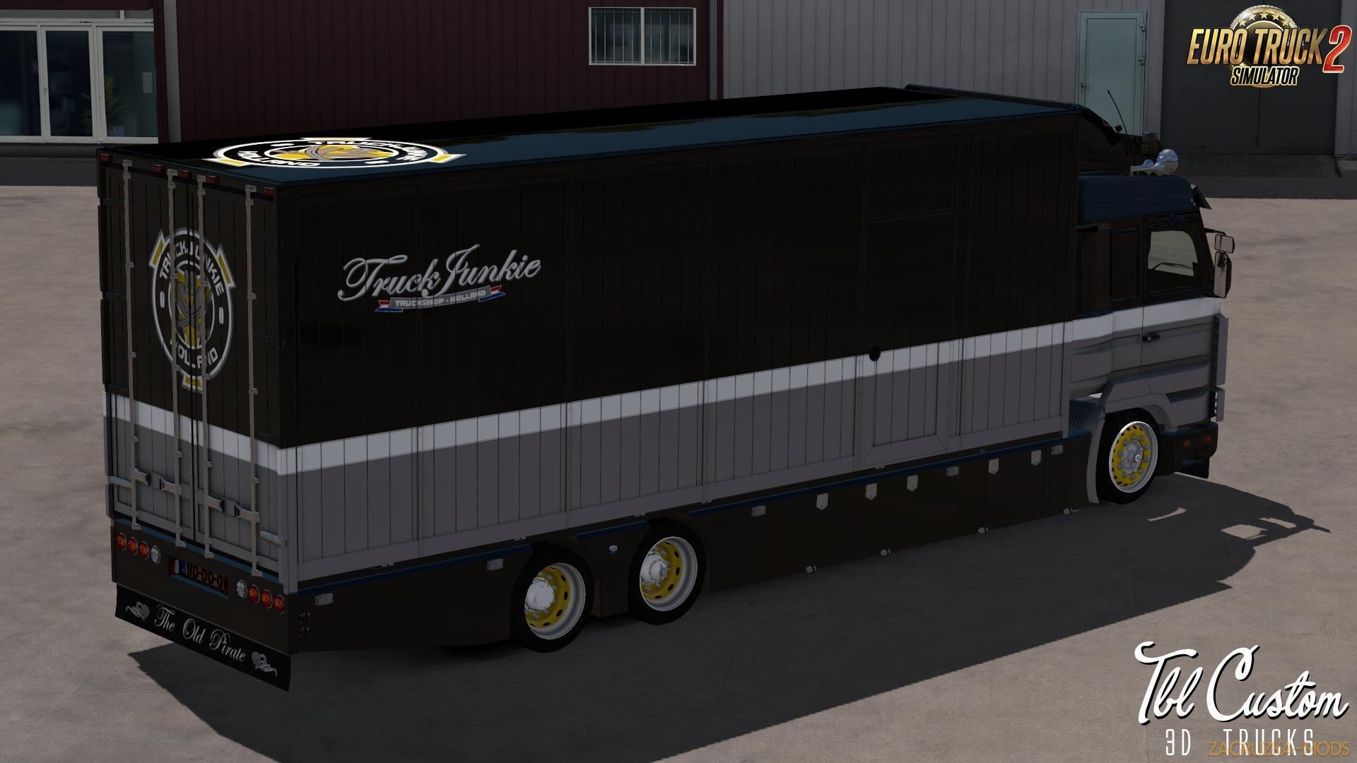 Scania 143M V8 500 Old Pirate + Interior + Tandem Trailer v1.0 (1.33.x) for ETS2