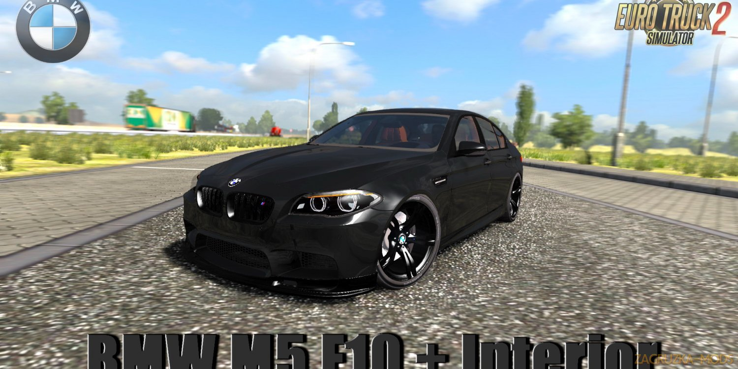 BMW M5 F10 + Interior v1.5 by Buraktuna24 (1.39.x) for ETS2