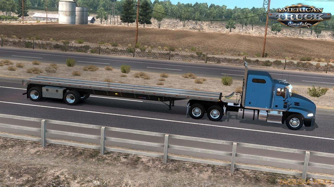 Trailer Great Dane Flatbed Freight FREEDOM LT v1.0 by keithd203 (1.33.x) for ATS