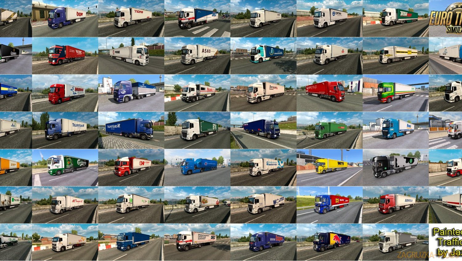Painted Truck Traffic Pack v7.4 by Jazzycat