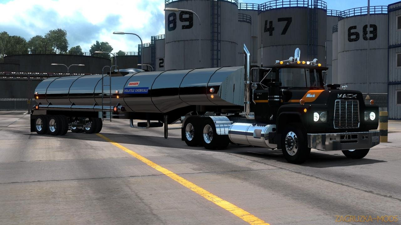 Trailer Rubberduck Tanker Freight v1.0 (1.33.x) for ATS