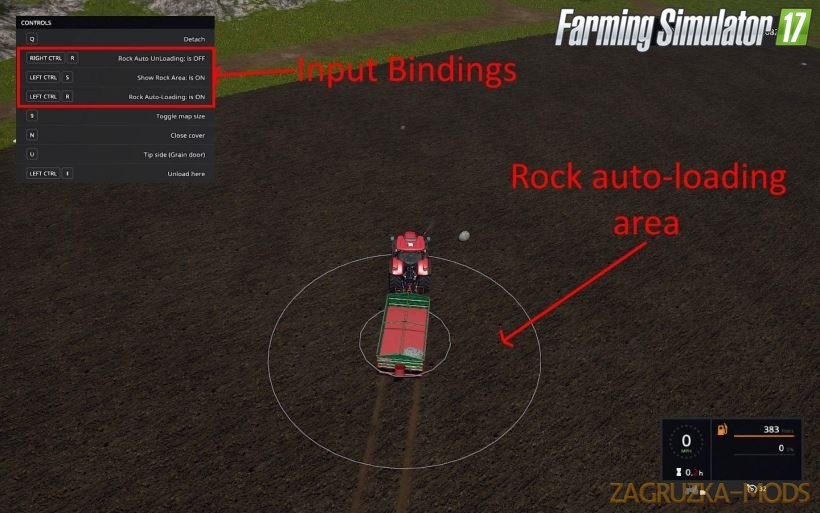 Rock Spawn Script Mod v1.0 for FS17
