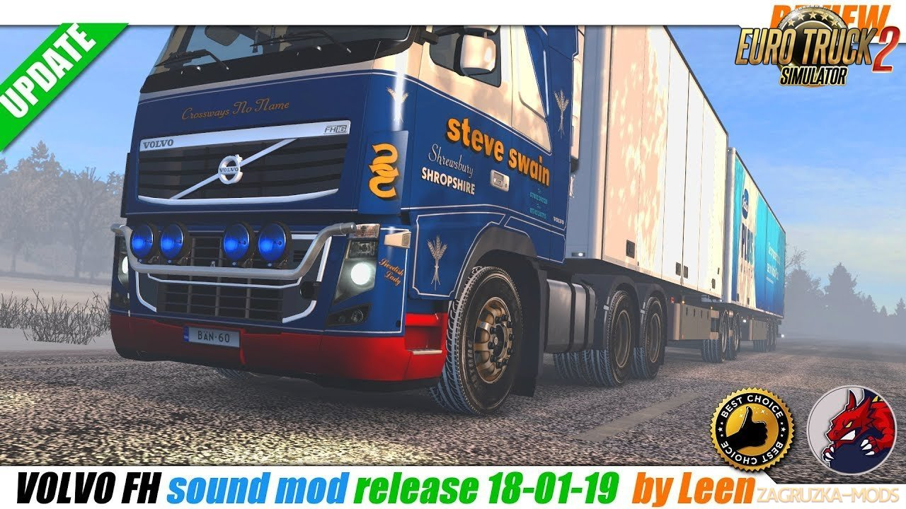 Volvo FH Sound Mod by Leen