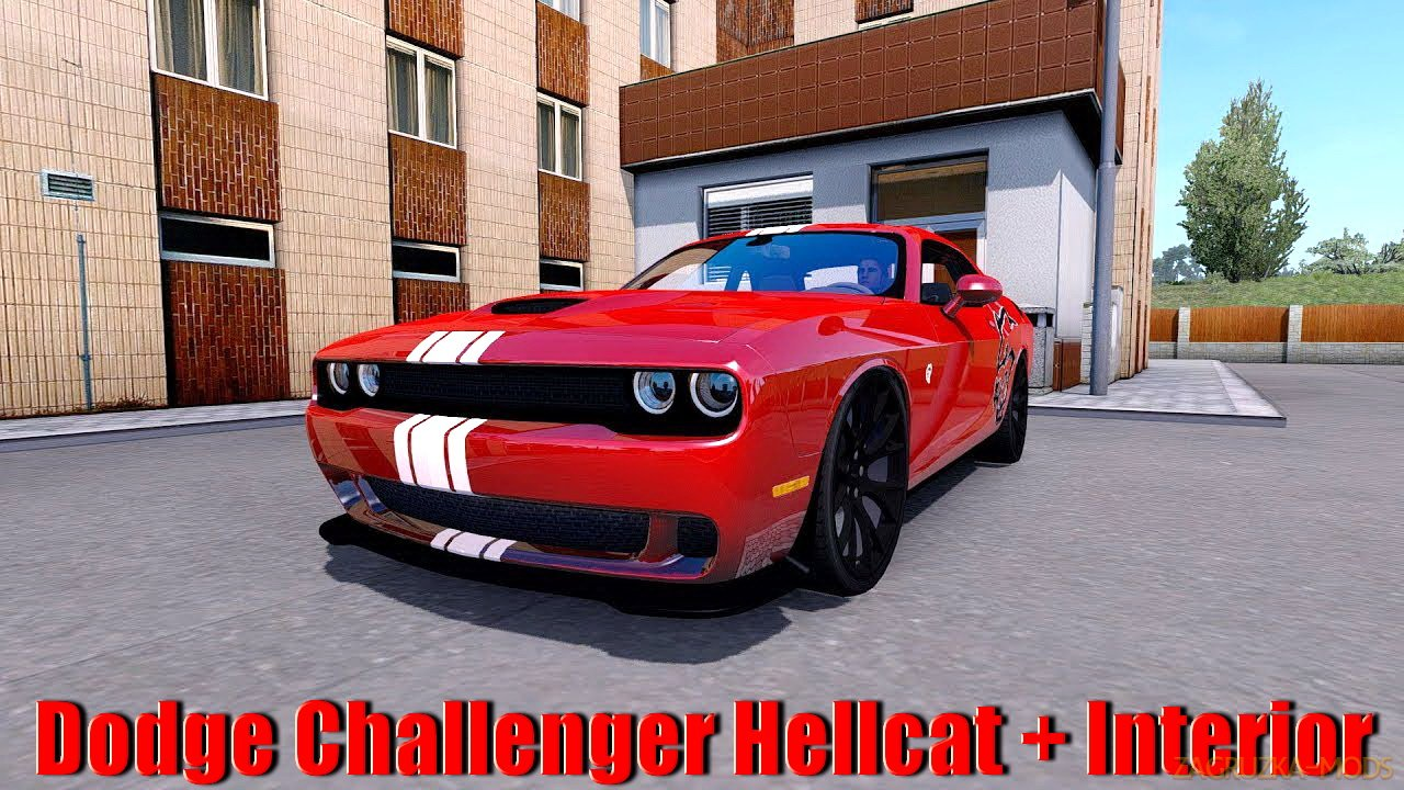 Dodge Challenger Hellcat + Interior v1.0 (1.33.x) for ETS2