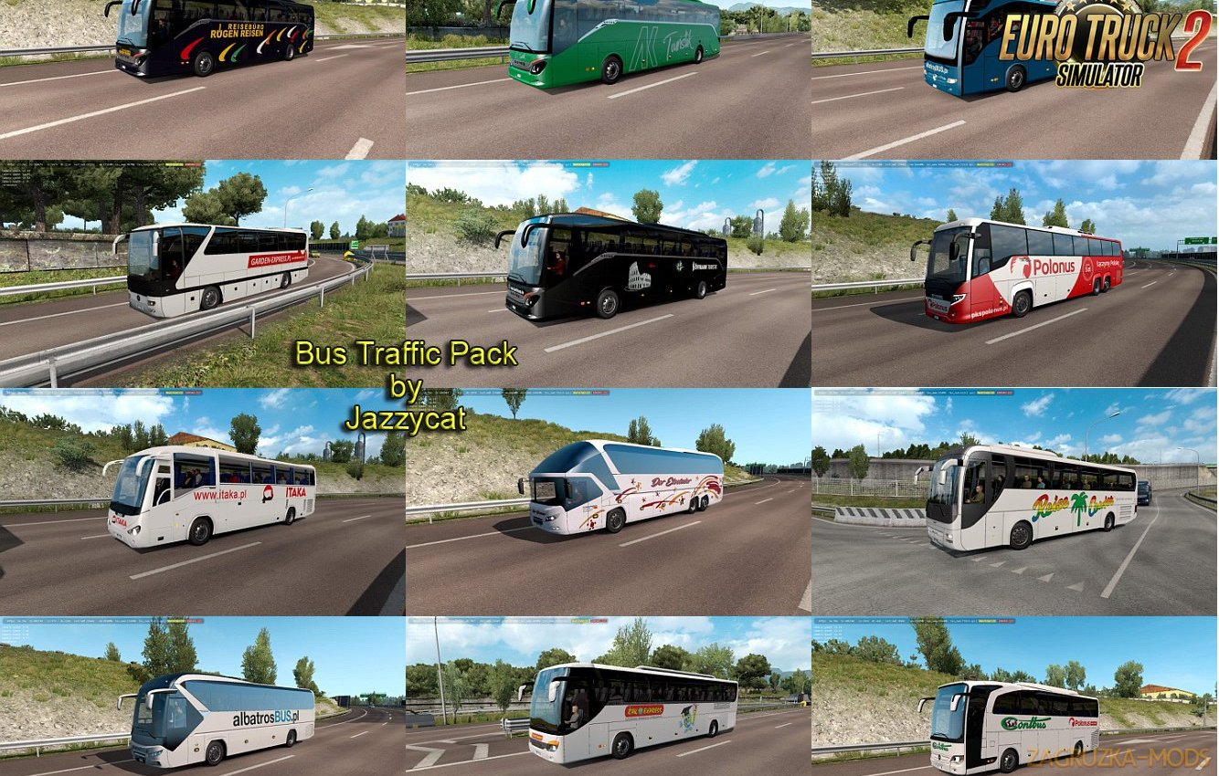 Bus Traffic Pack v6.1 by Jazzycat