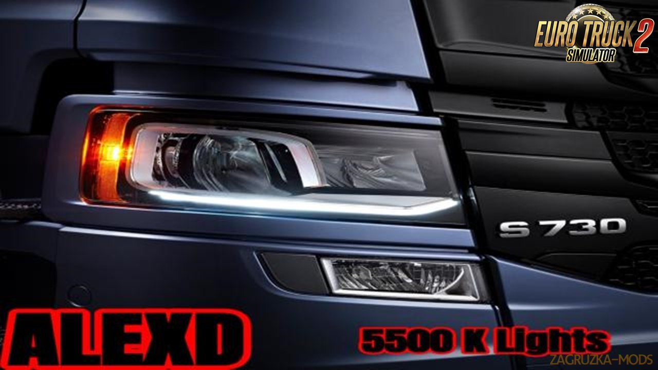 ALEXD 5500 K Lights v1.0 for Ets2