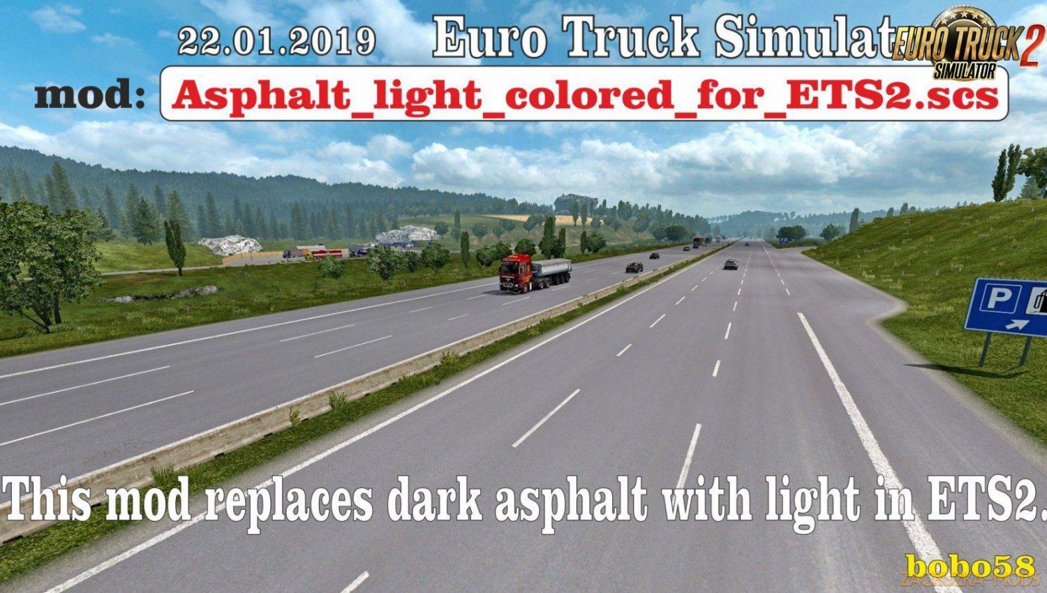 Asphalt light colored for Ets2
