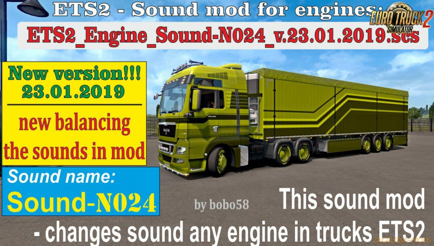 Engine Sound N024 for Ets2