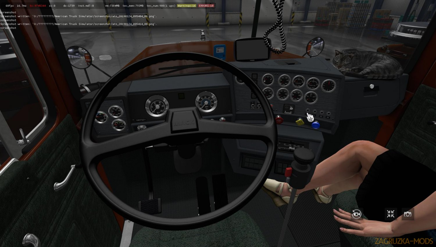 MACK SL-V8 + Interior v4.2 by RTA Team for ATS