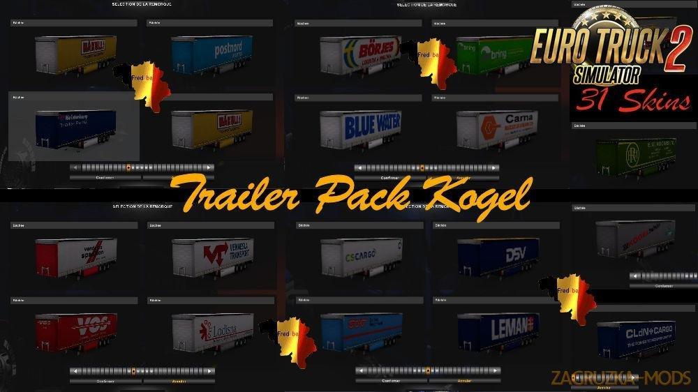 Kögel Trailer Pack v1.33 for Ets2