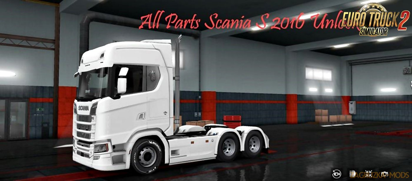 Scania S 2016 All parts Unlocked (Compatible with MP)