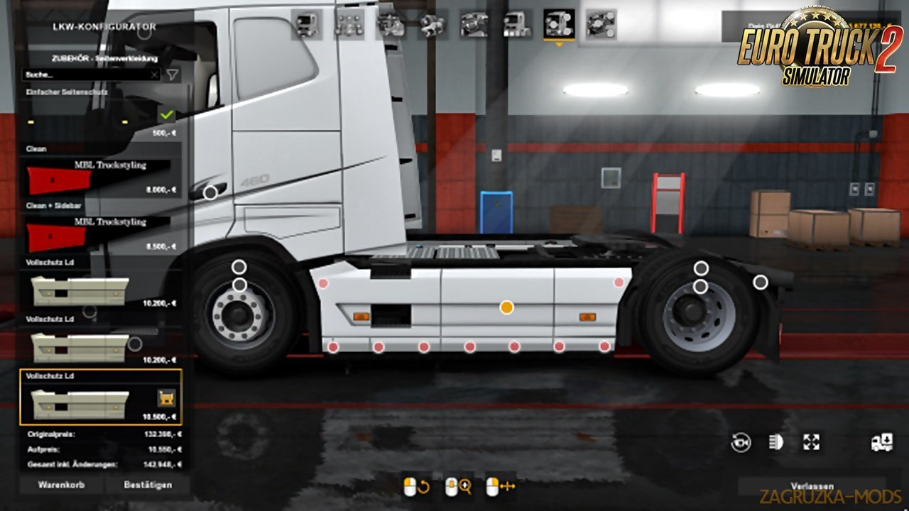 Tuning addon package for the Volvo FH Low deck v1.2 (1.33.x)
