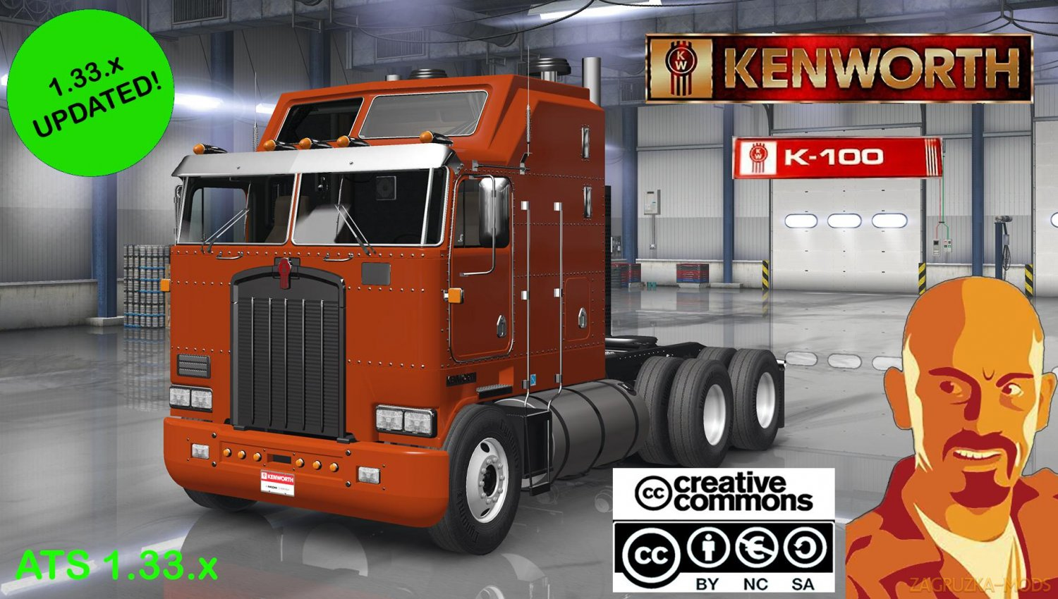 Kenworth K100 + Interior v1.0 by CyrusTheVirus (v1.33.x) for ATS