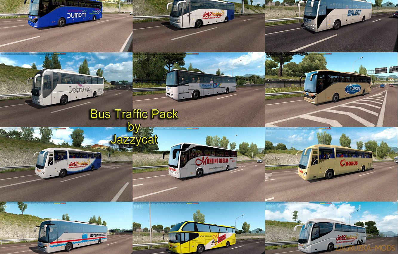 Bus Traffic Pack v6.2 by Jazzycat