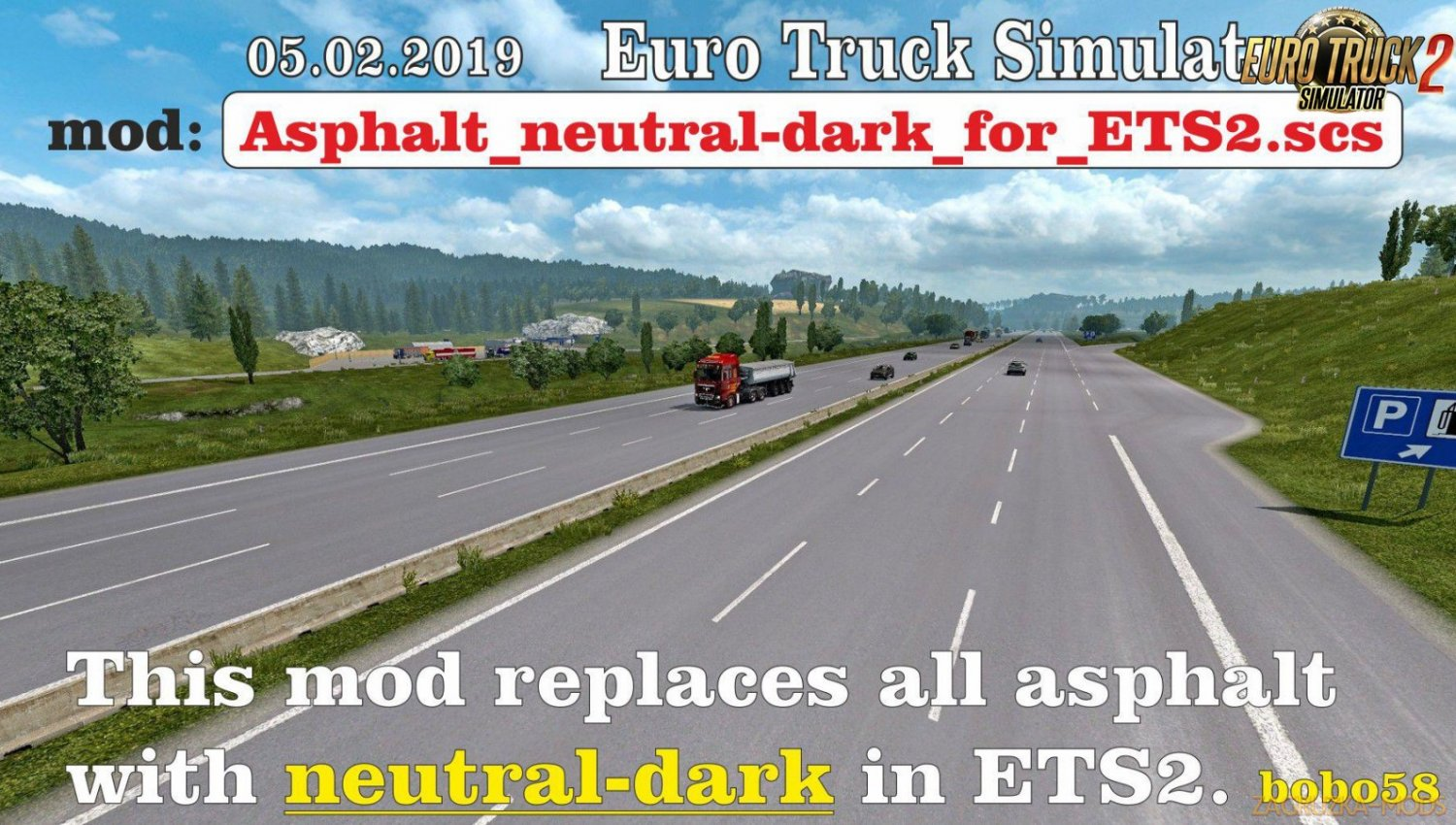 Asphalt neutral-dark for Ets2