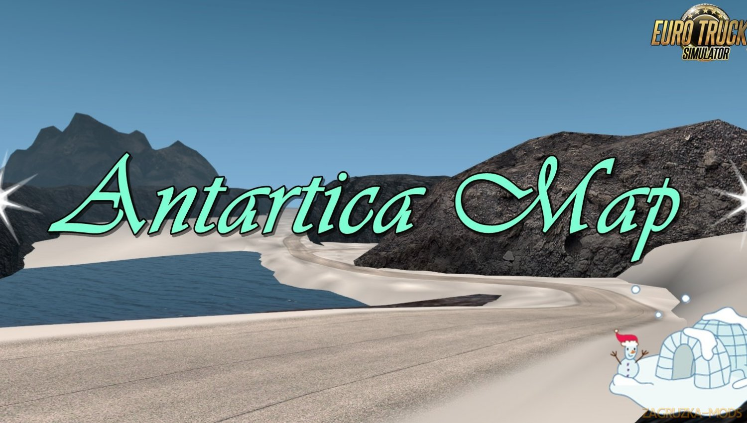 Antarctica Map v0.1 for Ets2