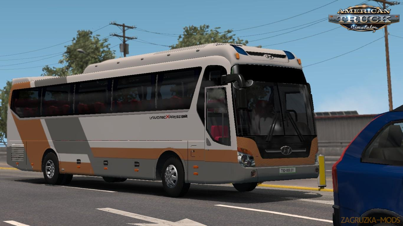 Bus Hyundai Universe 2008 + Interior v1.0 (1.33.x) for ATS