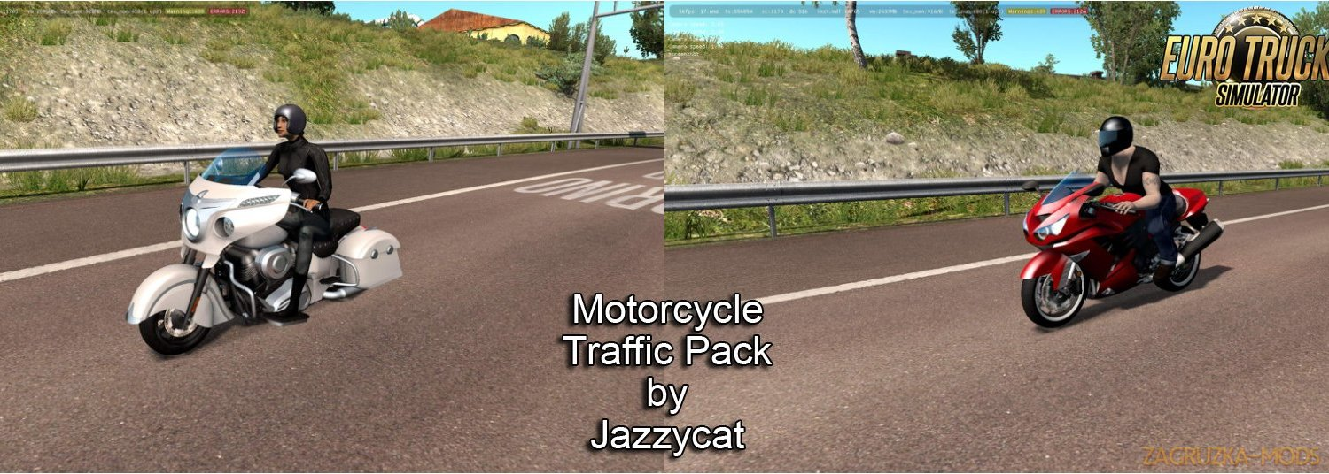 Motorcycle Traffic Pack v2.3 by Jazzycat
