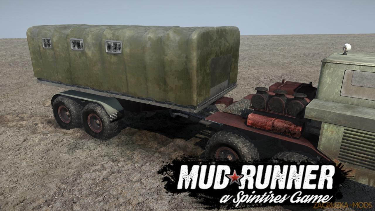 KrAZ-6434 v1.0 (v19.11.18) for SpinTires: MudRunner