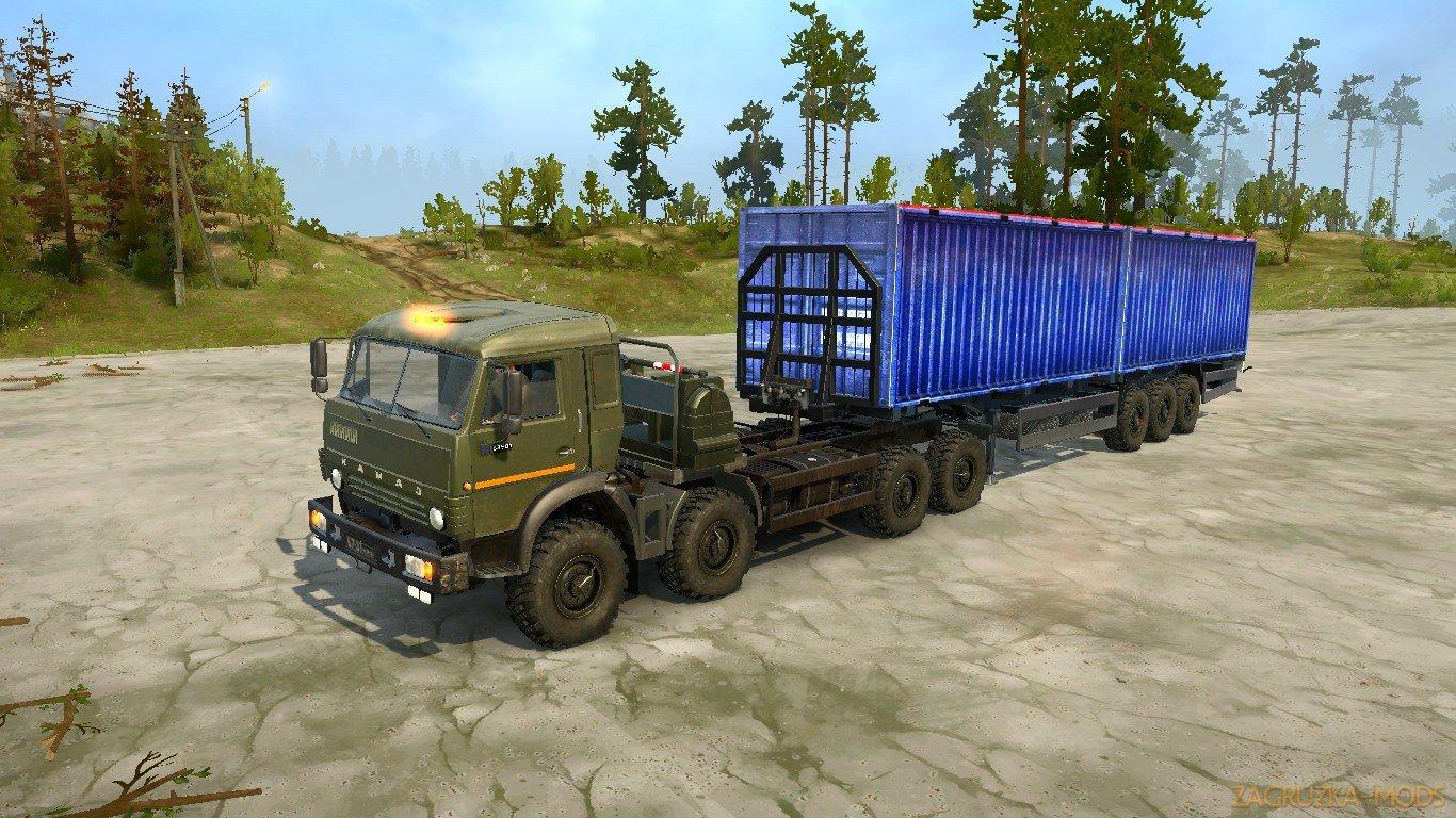 KamAZ-6350 Heavy Utility Truck v1.0 (v19.11.18) for SpinTires: MudRunner