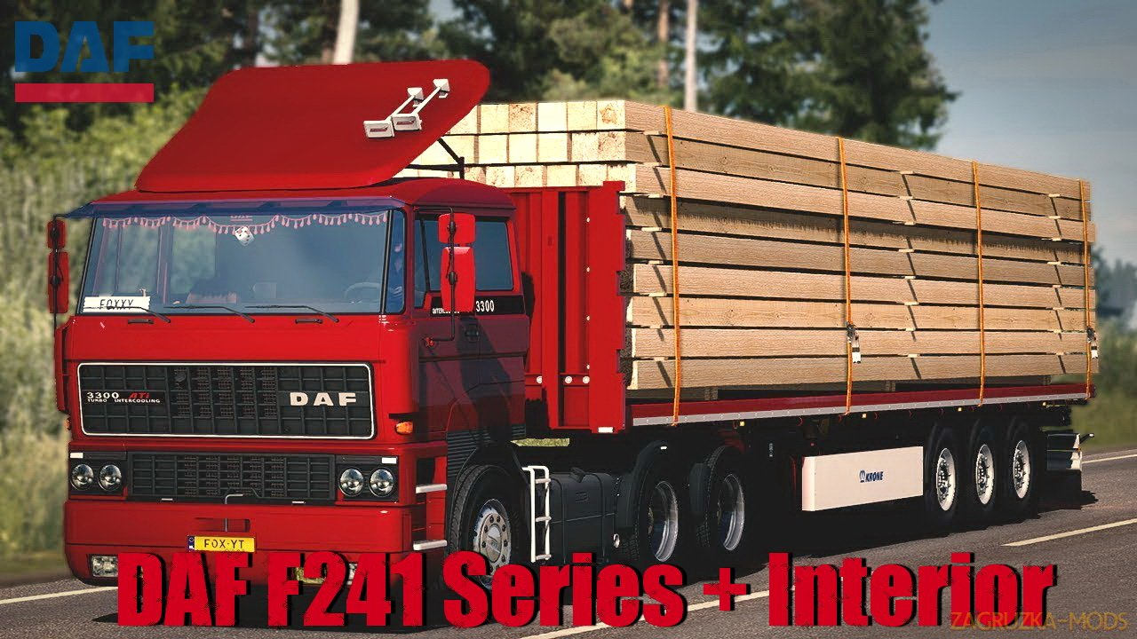 DAF F241 Series + Interior v1.1 by XBS (1.34.x) for ETS2