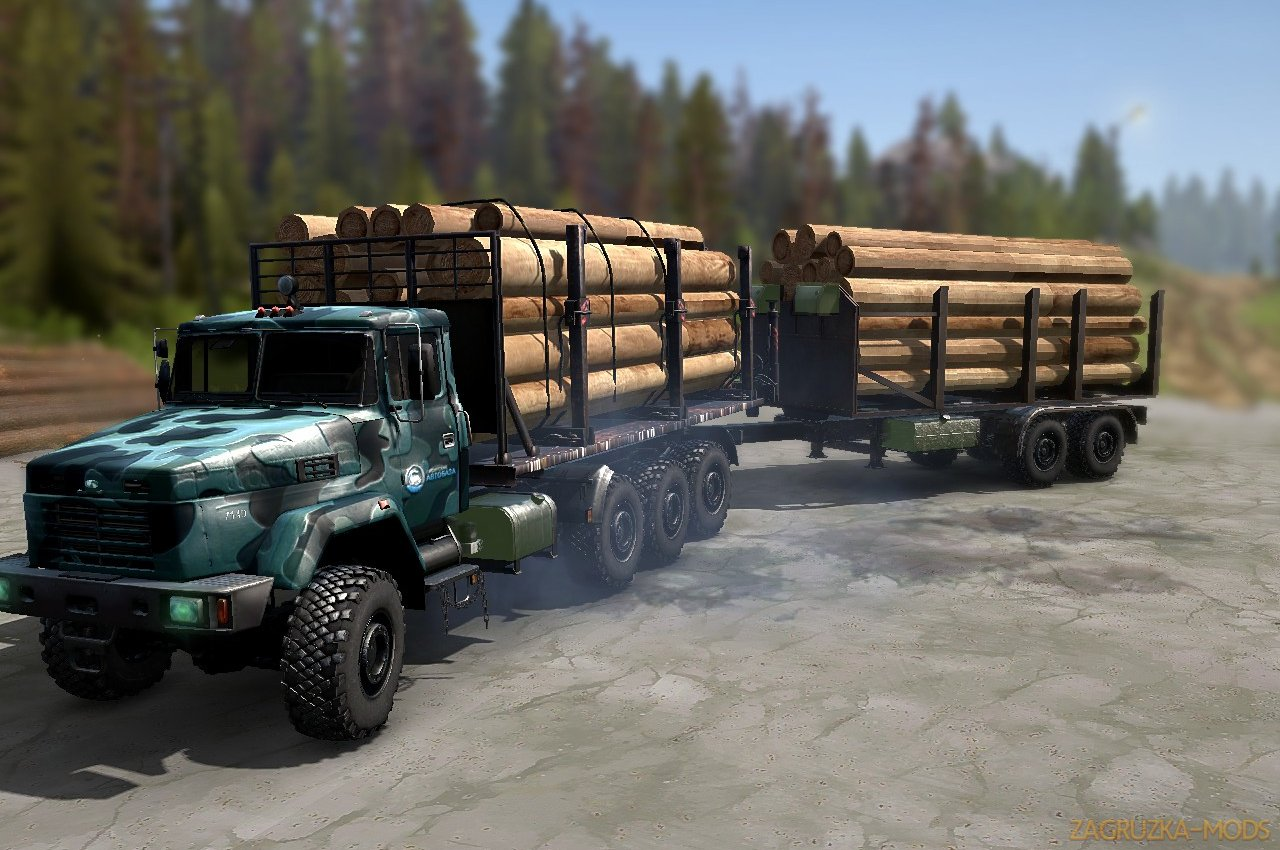 KrAZ-7140 VND v1.0 (v19.11.18) for SpinTires: MudRunner
