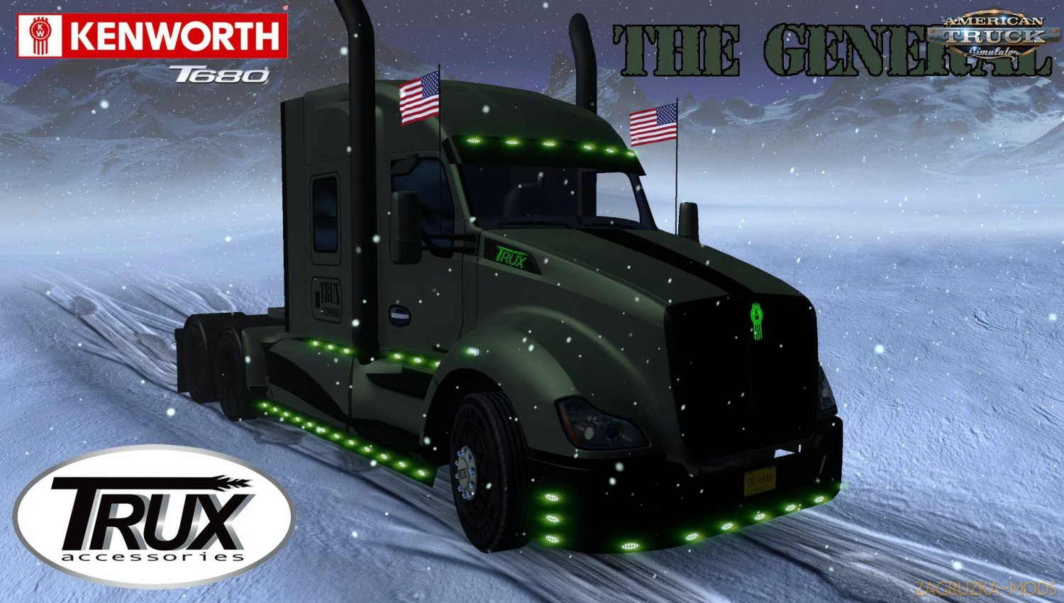 Kenworth T680 The General + Interior v1.0 by Harven (1.34.x) for ATS
