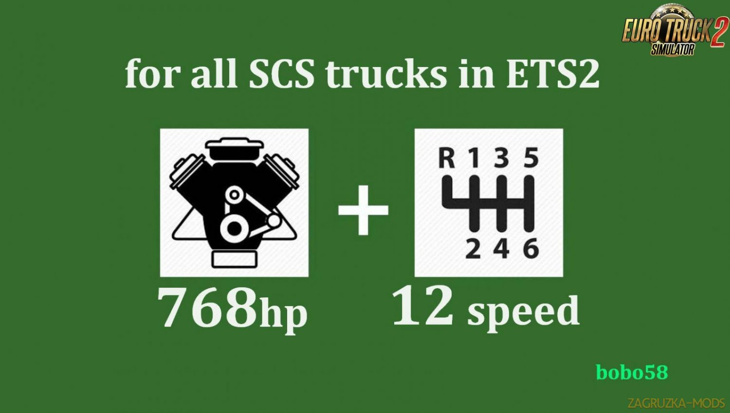 Engine and Gearbox for all SCS trucks