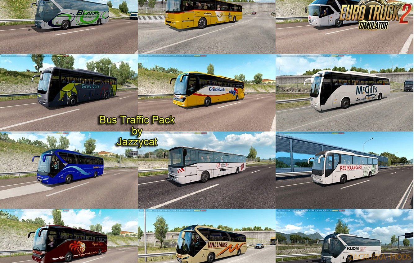 Bus Traffic Pack v6.3 by Jazzycat