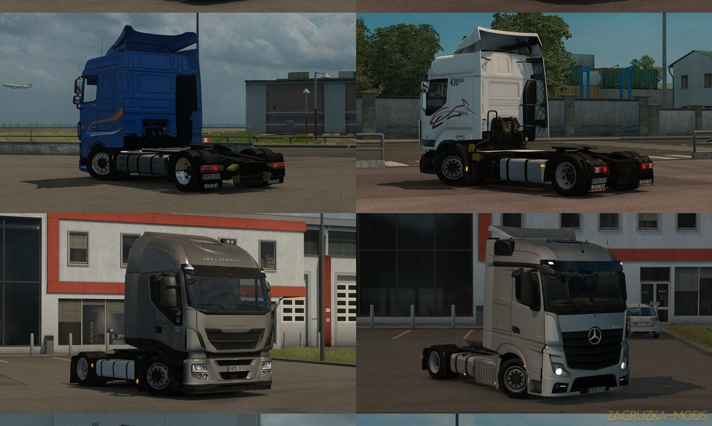 Low deck chassis addons for Schumi's trucks v2.3 by Sogard3