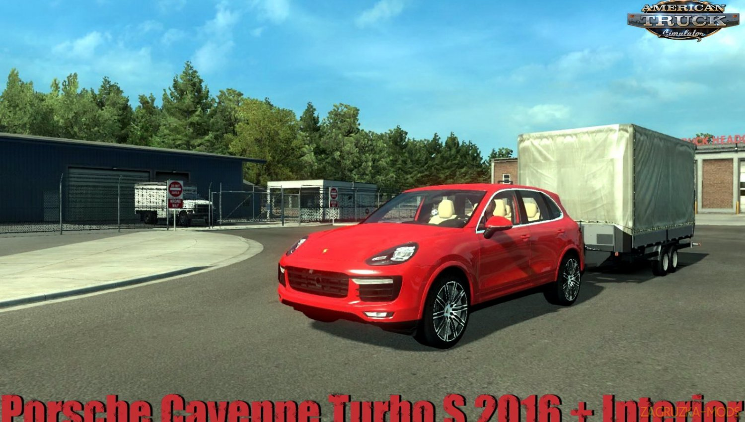 Porsche Cayenne Turbo S 2016 + Interior v1.1 (1.34.x) for ATS
