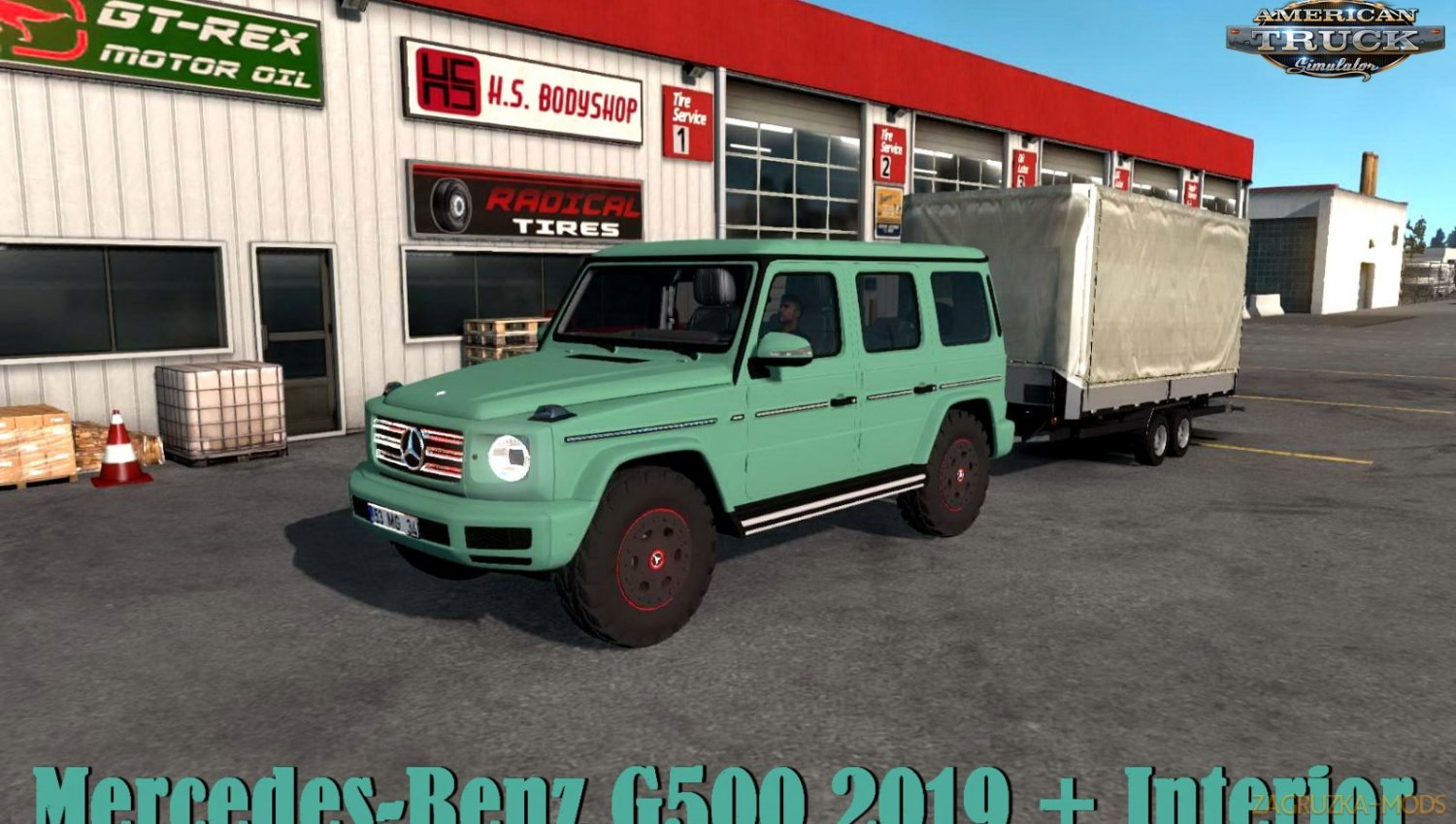 Mercedes-Benz G500 2019 + Interior v1.1 (1.34.x) for ATS