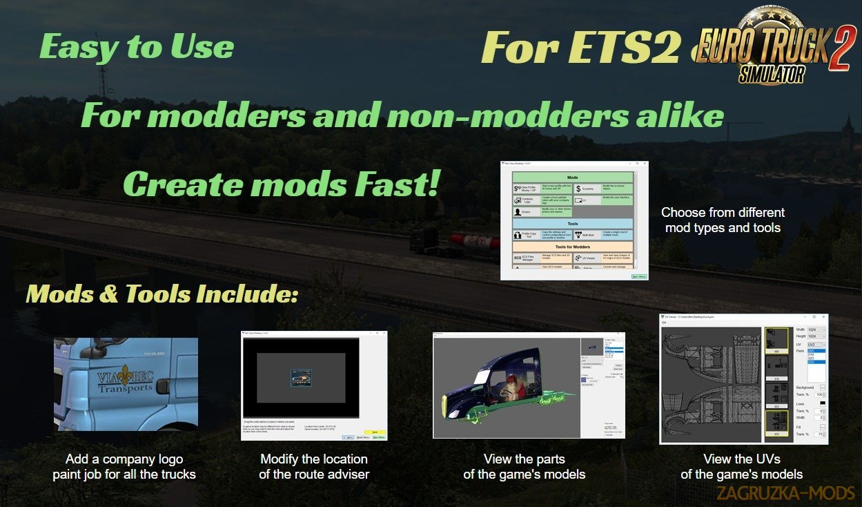 Ben's Easy Modding For Ats and Ets2 games v1.1.1.0.