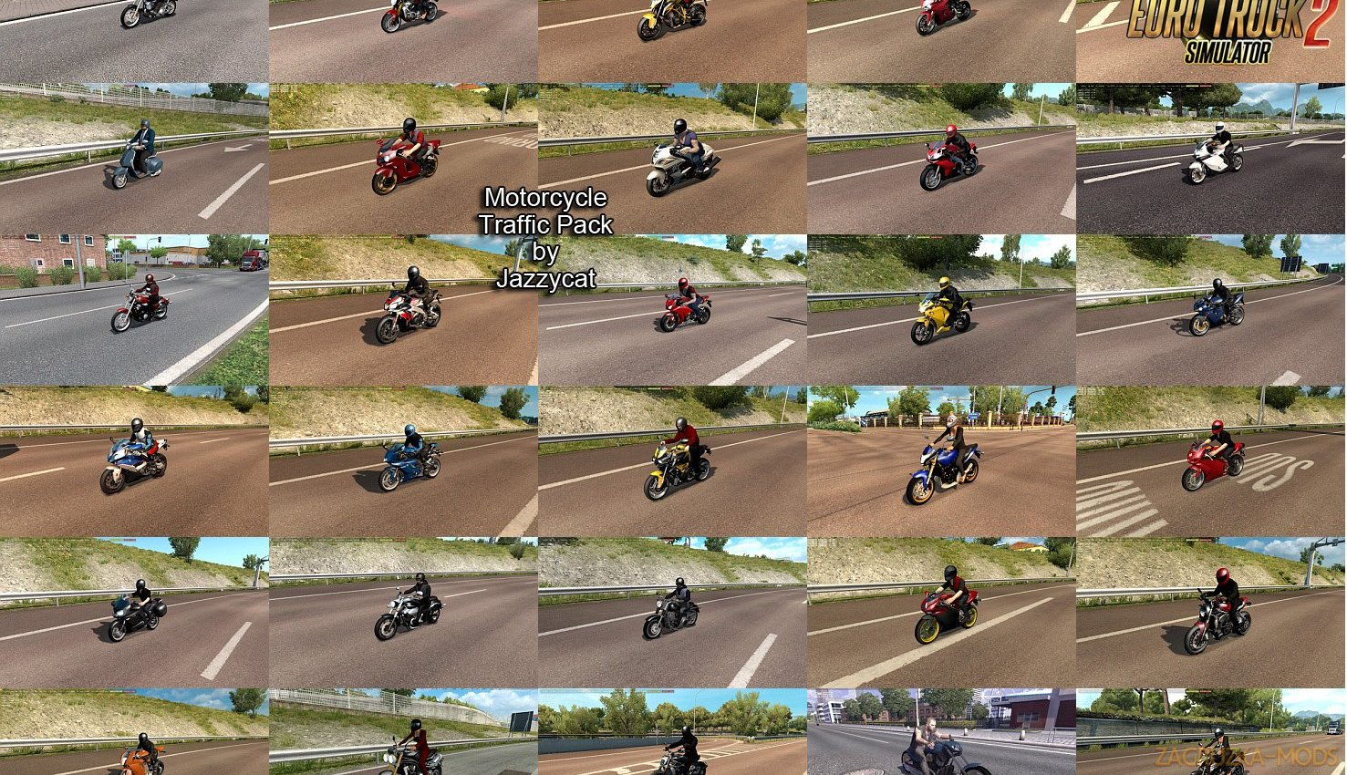 Motorcycle Traffic Pack v2.4 by Jazzycat
