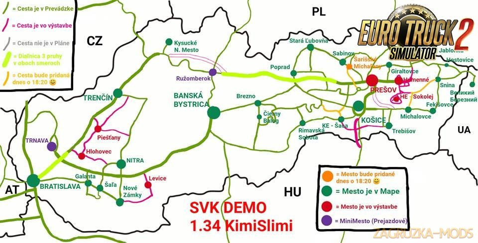 New Slovakia Map v13C-Demo by KimiSlimi (1.34.x)