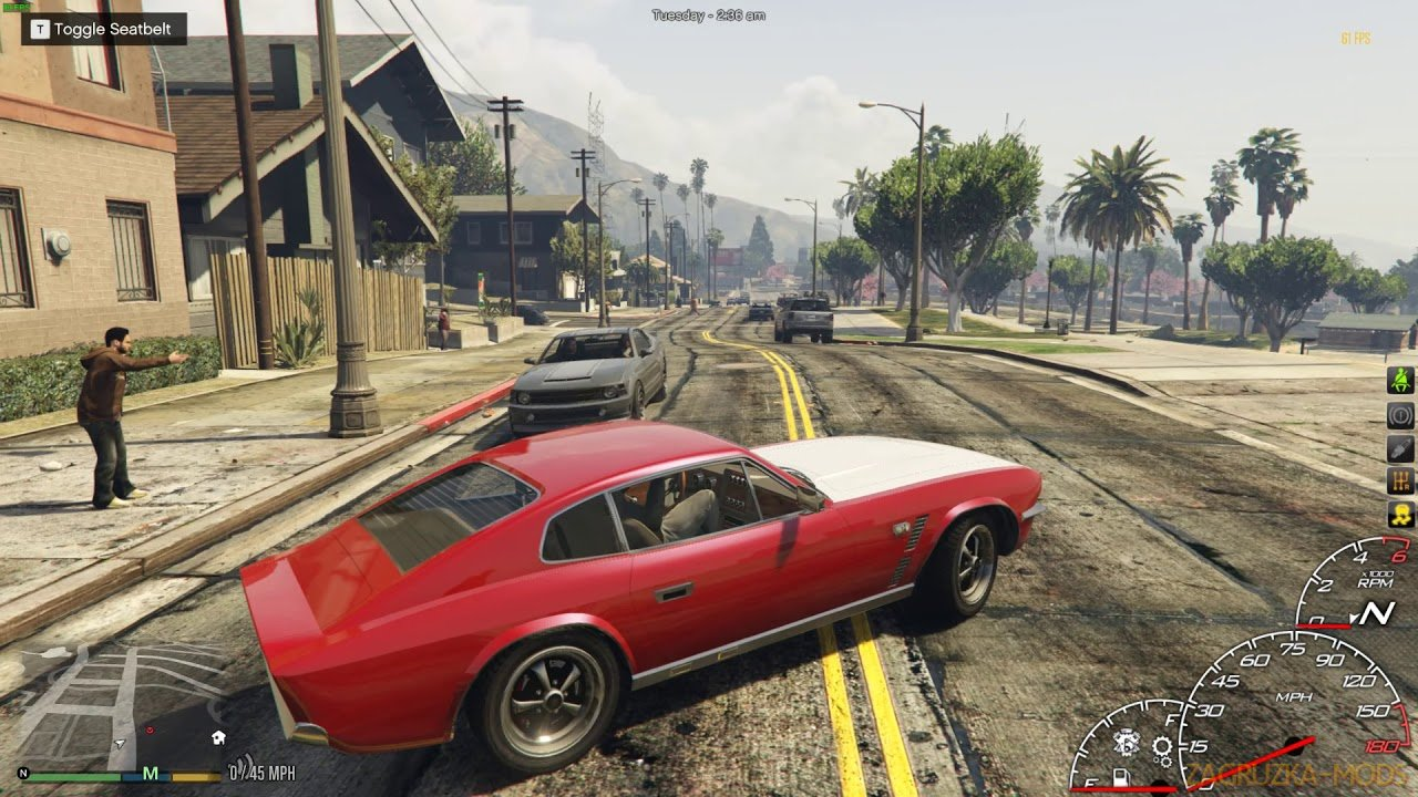 Relaxed Drive Style Mod v2.8 for GTA 5