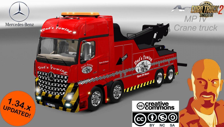 Mercedes Benz Actros MPIV Crane Truck [1.34.x]
