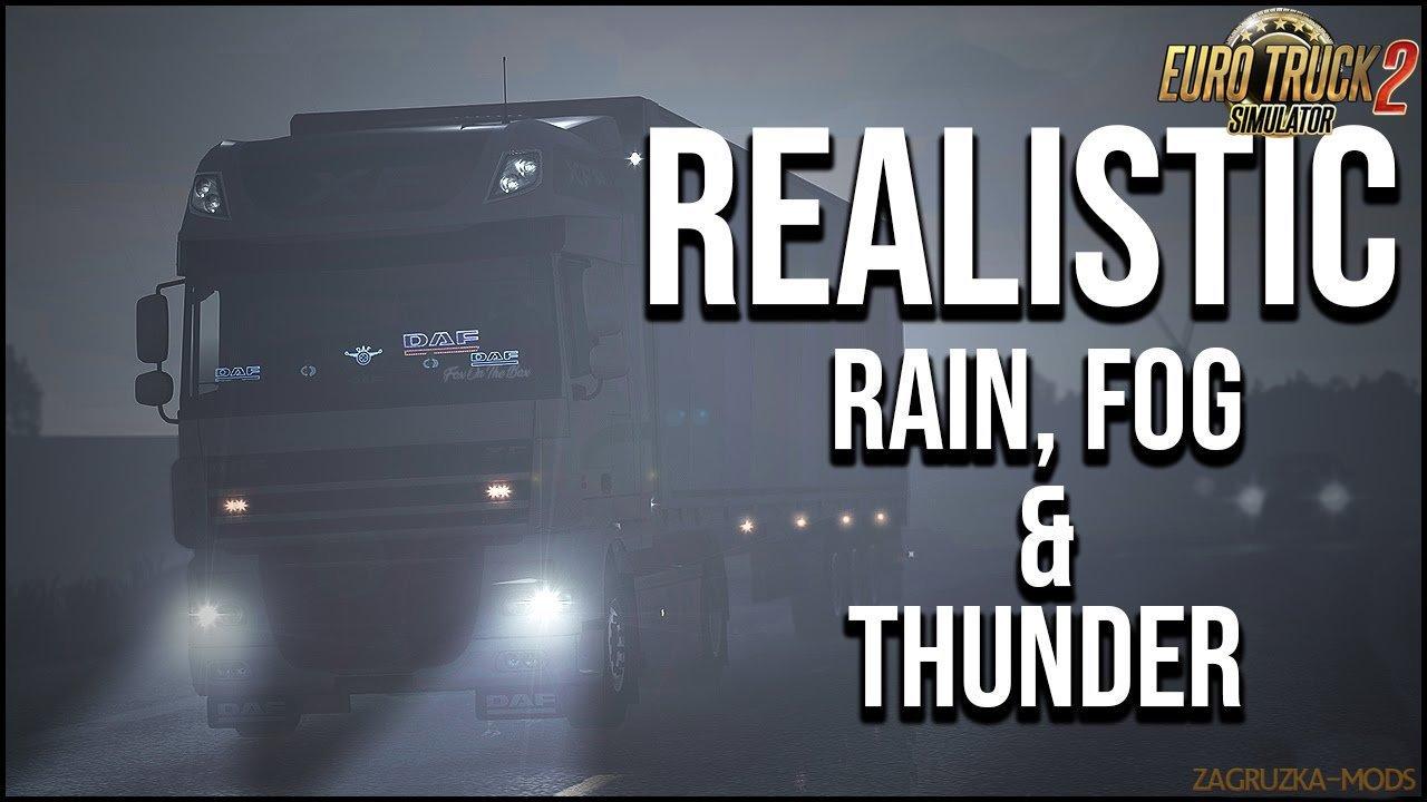 Realistic Rain & Fog & Thunder Sounds v3.9 (1.34.x)