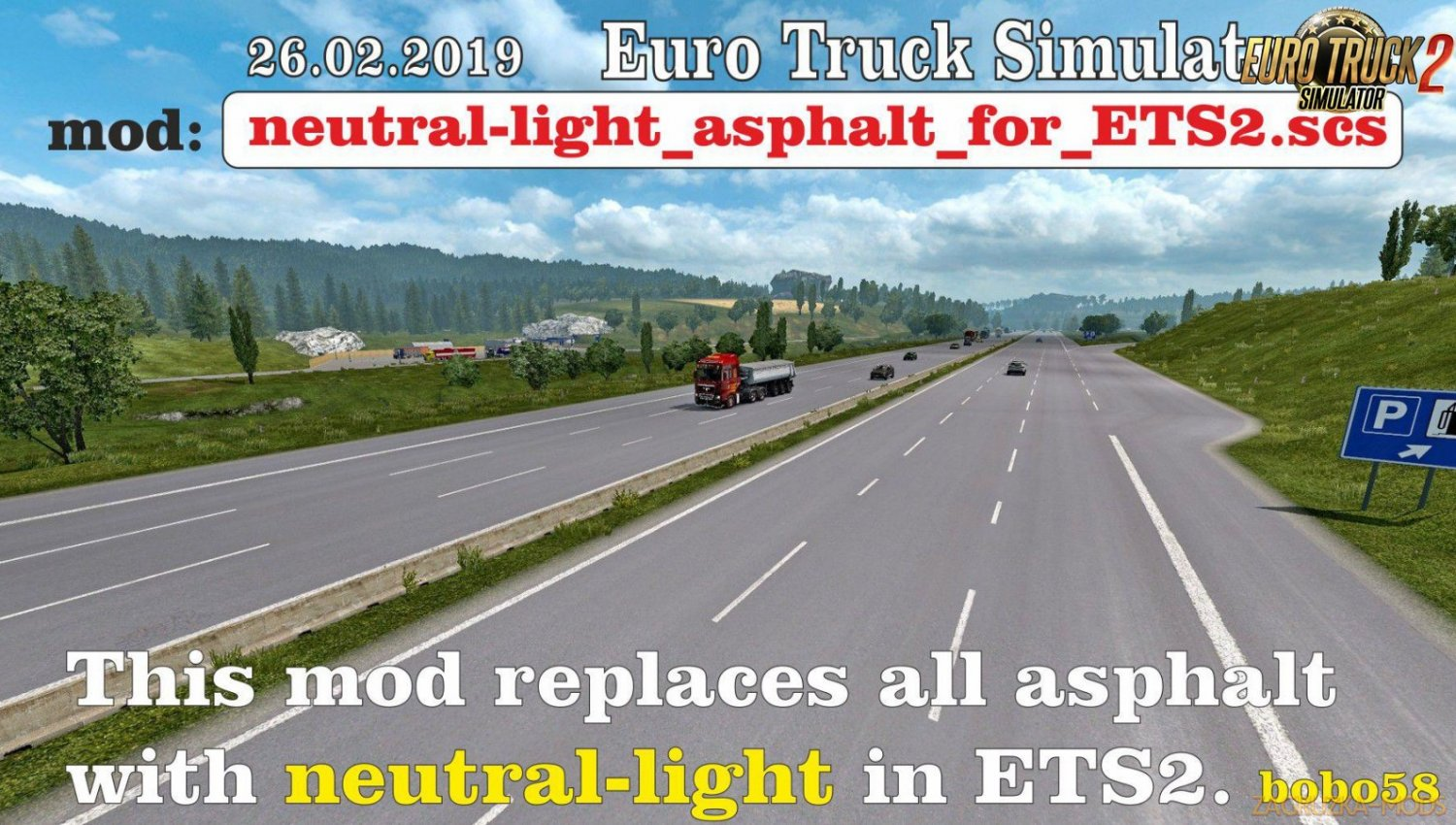 Neutral Light Asphalt for Ets2