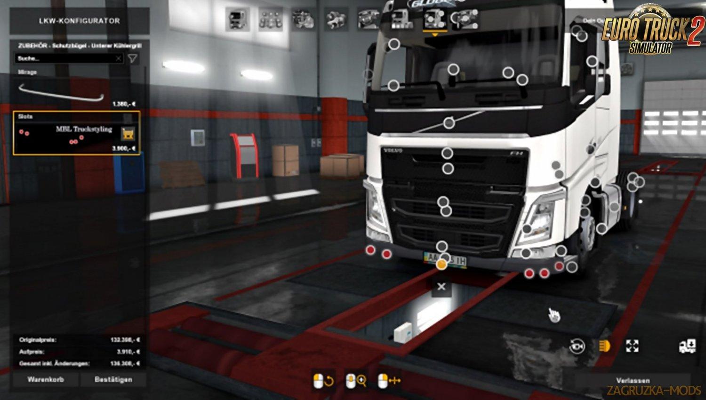Addon for Volvo FH16 by Sogard3 and skejcikk v1.3 (1.33.x, 1.34.x)