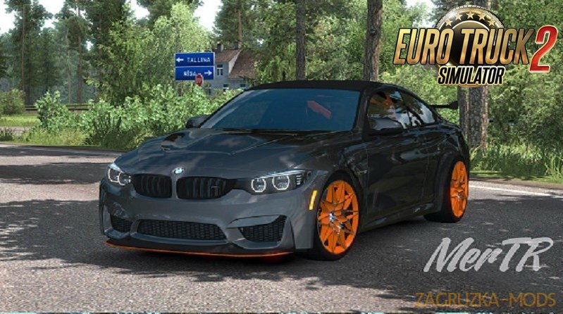 BMW M4 GTS Coupe RWD 2016 + Interior v1.0 (1.34.x) for ETS2