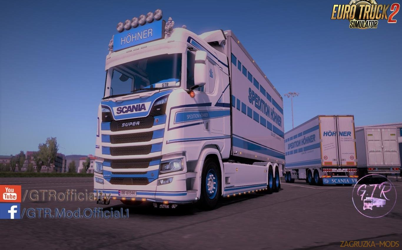 Spedition Hohner Skin Pack v 1.1 for Scania S Next Gen Tandem [1.34.x]