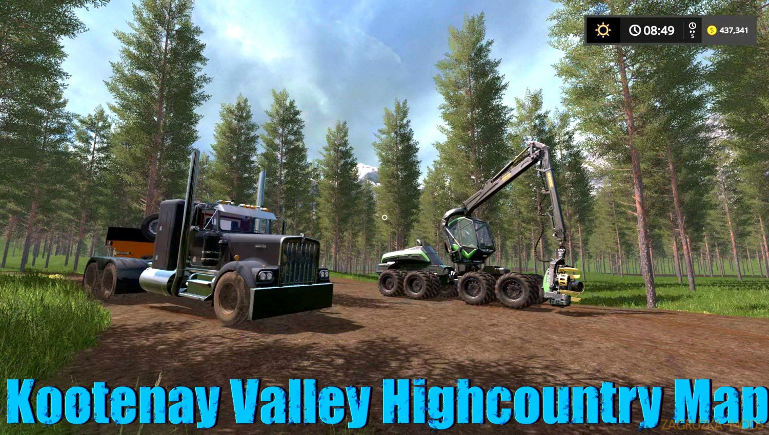 Kootenay Valley Highcountry Map v3.0 for FS17